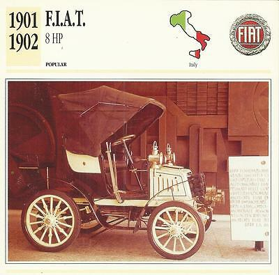 F.I.A.T. 8 HP 1901 - 1902 original 2-sided Edito collector's trading card