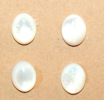 Mother of Pearl Cabochons 10x8mm with 4mm dome set of 4 (11710)