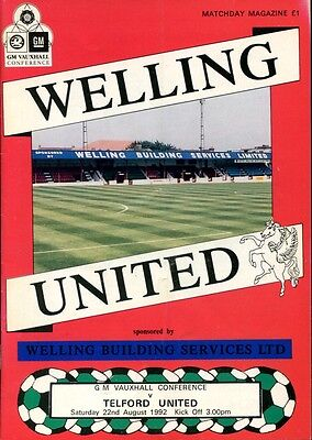 Welling United Home Programmes (C9)