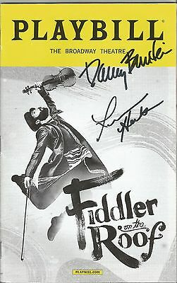 Fiddler on the Roof Playbill SIGNED by Danny Burstein & Jessica Hecht