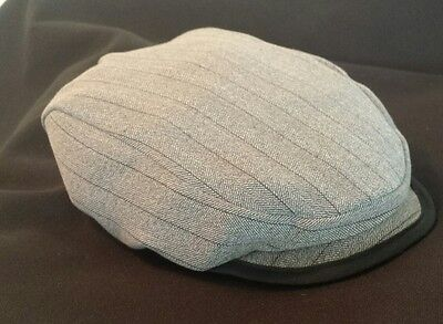 Pinstripe Baby/ Infant flat cap (Fully lined) made in the UK