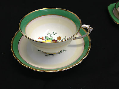 Tuscan China England Cup And Saucer - Art Deco Colours # 9545 - 5