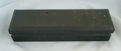 Very Old Vintage Oil Stone Sharpening Stone Tool Carpenters Wooden Box Free P&P