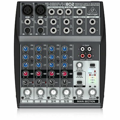 Behringer XENYX 802 - Analogue mixer - 8-channel
