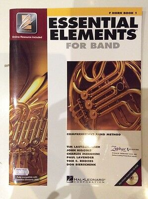 Essential Elements for Band - F Horn Book 1 - includes Audio/Video CD-Rom - NEW