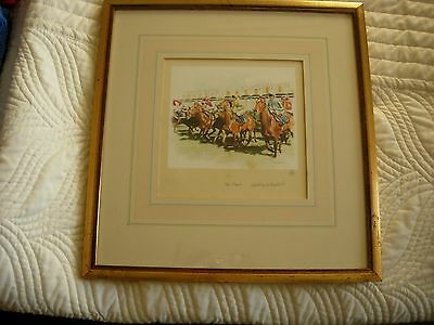 'The Start' - Mandy Shepherd Limited Edition Horse Racing Framed Print