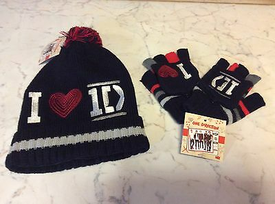 One Direction Bobble Hat And Glove Set BNWT Boy Band Harry Liam Zyan Louis Niall