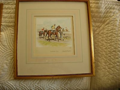 'The Parade Ring' - Mandy Shepherd Limited Edition Horse Racing Framed Print