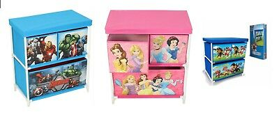 New Elegant Paw Patrol/Disney Princess/Marvel Avengers Kids Storage Box