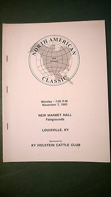 North American Classic Holstein Sale Catalog 1983 Louisville Kentucky
