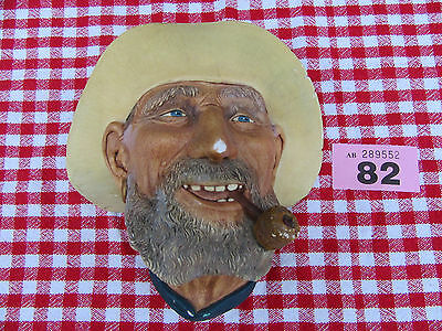 Bossons Vintage Old Timer Head Wall Plaque 1977 Made In England (Ref 82)