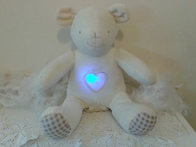 Adorable light up Glow Beige Teddy Bear with changing colours and love heart
