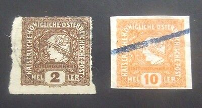 Austria-1916-2H & 10H Newspaper stamps-Used