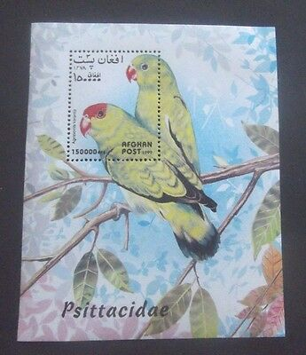 Afghanistan-1999-Bird/Parrots Minisheet-MH Good gum