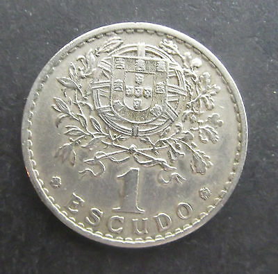 Portugal-1965-1 Escudo coin-Used