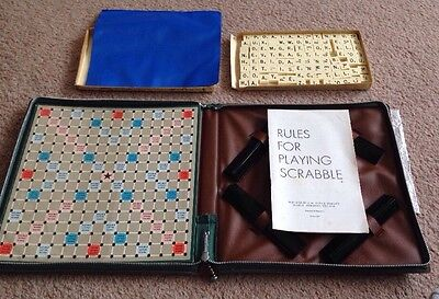 Travel Scrabble Deluxe  / Used