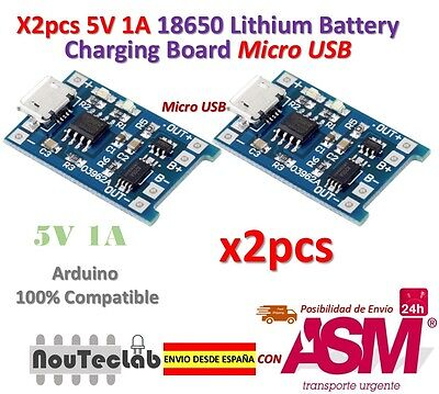 2pcs 5V 1A Micro USB 18650 Lithium Battery Charging Board Charger Module