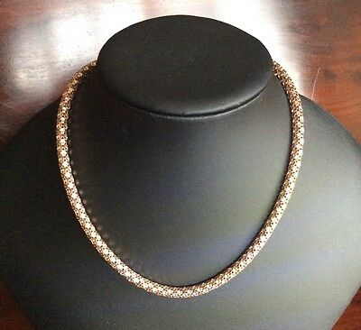 """Beautiful Rose Gold On Sterling Silver 18"""" Popcorn Chain Necklace"""