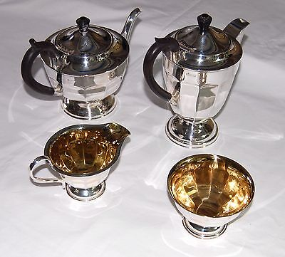 Vintage Art Deco style 4 piece silver plated EPNS A1 tea and coffee set