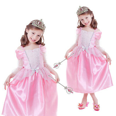 Girls Role Play Sets New Princess Kids Childrens Fancy Dress Book Week Costume