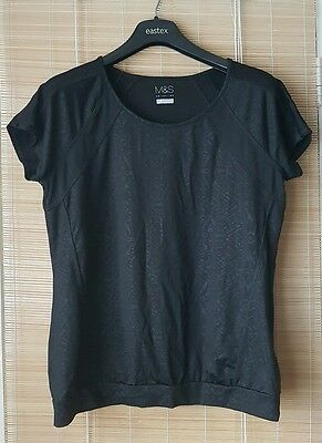M&S fitness yoga running gym top size UK16