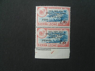 """SIERRA LEONE QE11 1963 P.O. 2/6 unlisted variety """" missing AIL""""  MNH """"SCARCE"""""""