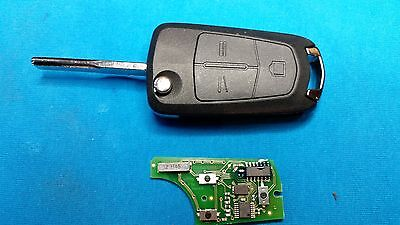 Vauxhall Vectra C Signum 3 Button Remote Key Fob With Blank Chip & Blade