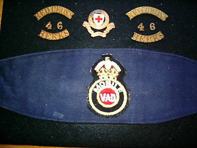 Berkshire Red Cross 46 Division And Vad Rare Arm Band
