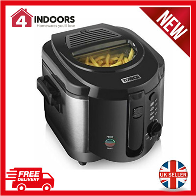 Tower T17001 Easy Clean Deep Fat Fryer, 1500 W, 2Ltr in Black - Brand New