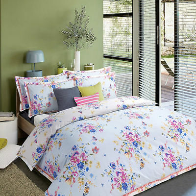 Duvet Cover with Pillow Case Quilt Cover Bedding Set Floral Bloom Size Double