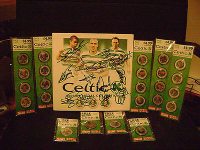 GLASGOW CELTIC F.C.  2003/04 Medal Collection   (SUN)  (Autographed) SEALED