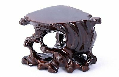 Hard Wood Crafted Tree Root Display Stand For Vase Teapot Bottle Netsuke Etc..