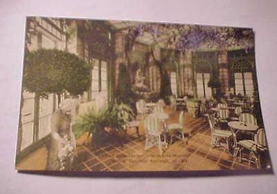 2 Vintage Postcards -THE GREENBRIER-W.VA.- THE LOBBY & THE WISTARIA ROOM