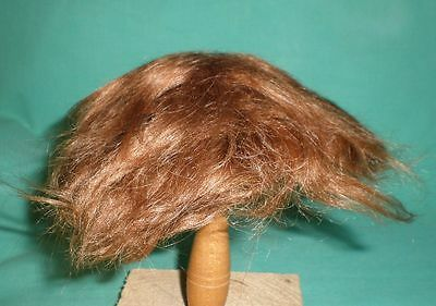"antique doll wig/ mohair brown 12"" to 13""/short hair"