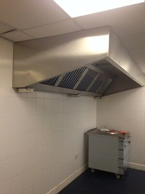 Commercial Kitchen Extraction Canopy/Hood 10ft Filters Fan - controls.