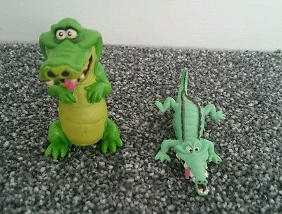 Two Disney Tic Toc Croc figures from Peter Pan
