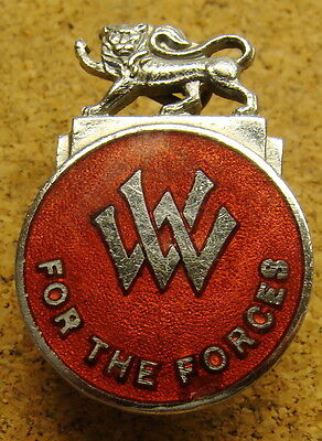 Wwii J.r.gaunt London Womens Volunteer For The Forces Pin #11065