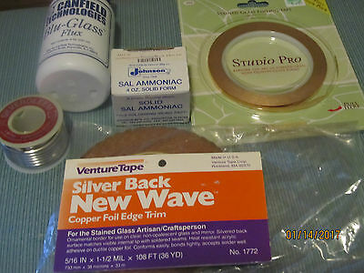 Stained Glass Supplies--5 Items