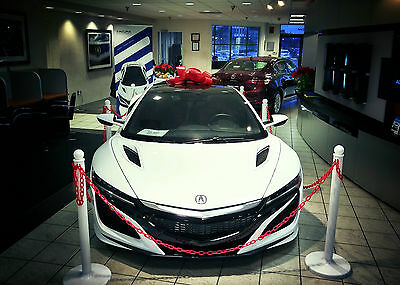 2017 Acura NSX Coupe 2-Door All New 2017 Acura NSX #0047 White with Red Interior, Turbocharged Supercar