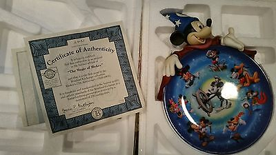 Disney  Mickey Mouse SORCERER 3D Plate Amazing Low #