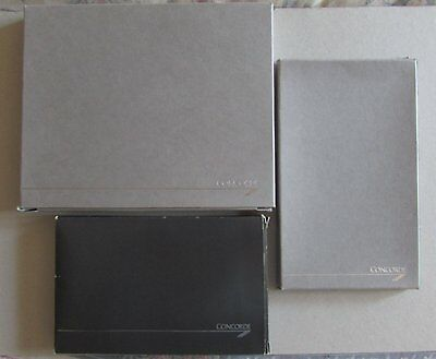 British Airways Concorde Grey Leather Gift Selection