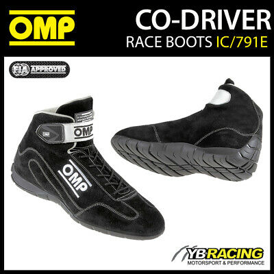 Ic/791E Omp Co-Driver Rally Boots Rainproof Suede Leather With Thicker Sole