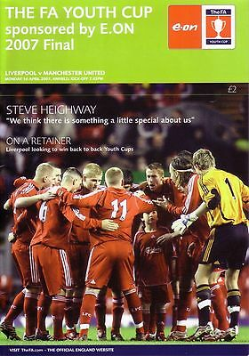 2007 FA YOUTH CUP FINAL LIVERPOOL v MANCHESTER UTD