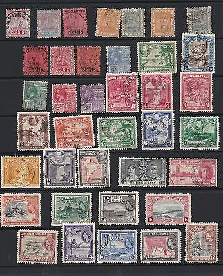 S5  British Guiana QV to QE11  (35+stamps) unsorted