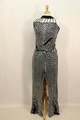 1970s Sequin Disco Top & Flare Trousers