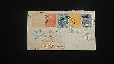 Lima Perú Cover To London 1903.