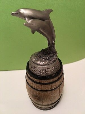 Collectors Pewter Dolphin Wine/Spirit bottle stopper