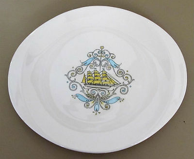 """CANONSBURG Pottery STANHOME Voyager SHIP Pattern 13.75"""" Serving PLATTER"""