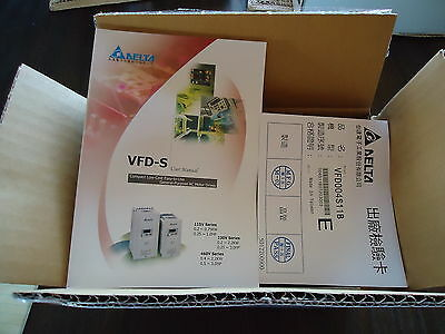 New Delta Electronics Vfd004S11B Frequency Drive Made In Taiwan S/N 004S11B0T203