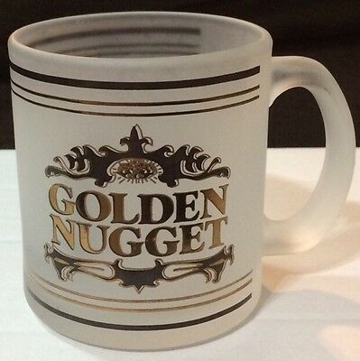 Frosted Glass Golden Nugget coffee mug